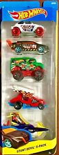Hot Wheels Stunt Devil 5 Vehicle Gift Pack #CDT25 1:64 Scale Diecast