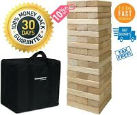HOT Giant Jenga Game Yard Big Large Wood Block Picnic Party Pool Play Tower Lawn