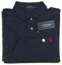 NWT Polo Ralph Lauren Men's Navy S/S Custom Fit Interlock Polo Shirt Size Large