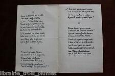 ✒ P.A. Emile VITTA poète explorateur - poème autographe TRYPTIQUE J Truffier