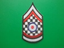 MOD SKA SCOOTER RALLY SEW ON / IRON ON PATCH:- SGT STRIPE MOD WHO TARGET CHECK a