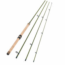 13FT 4 PIECES CARBON FIBER SECTIONS CENTERPIN FLOAT FISHING ROD WOODEN HANDLE