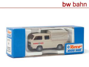Roco miniatur modell H0 1555 VW T3 Bus der DB, Doppelkabine Pritsche/Plane