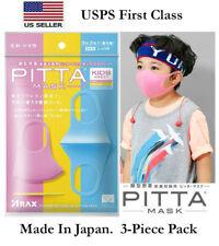3 Pcs ARAX Pitta Reusable Washable Boys Girls Kids Face Mask Cover Sports Japan