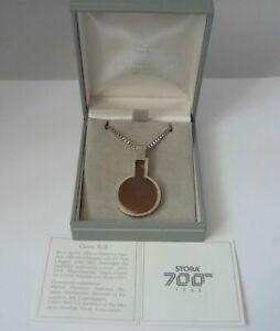 Rare Vintage Modernist Swedish Glenn Roll Sterling silver & Copper Necklace