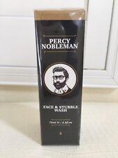 Percy Nobleman Men Face Stubble Beard Wash Cleanser England Full 2.5oz/75ml Nib
