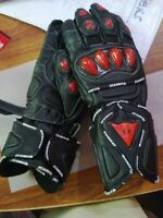 BLACK RED MOTOGP GLOVES MOTORBIKE GLOVES MOTORCYCLE LEATHER GLOVES BIKERS GLOVES