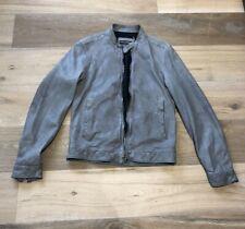 Dolce & Gabbana Men's Grey Brown Leather Jacket