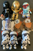 Star Wars Disney Comic Images Stuffed Plush Toy Lot of 9 Vader, R2D2, 3PIO, EWok