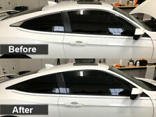 Crux Moto Window Chrome Overlay for 2016 - 2020 Honda Civic Coupe No Bubbles