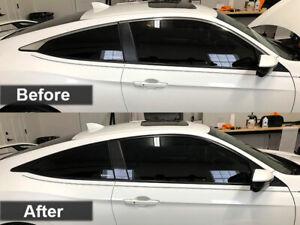 Crux Moto Window Chrome Overlay fits Honda Civic Coupe 2016 - 2020