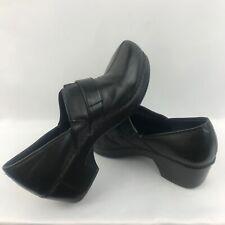 Dansko Tamara Women Nursing Clog Shoe Buckle Slip On Black Leather 40 US 8.5 / 9