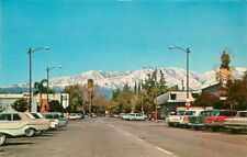 Autos Mobile Claremont California Yale Avenue Columbia 1960s Postcard 4782
