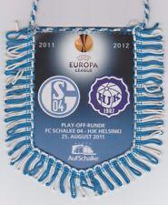 Orig.Wimpel   Europa League  2011/12   FC SCHALKE 04 - HJK HELSINKI  !!  SELTEN