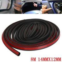 8M Big D Shape Moulding Trim Rubber Car Door Window Edge Seal Weather-strip HOT
