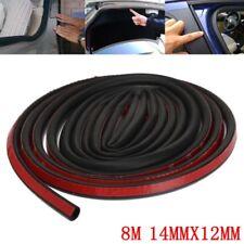 8M Big D-Shape Moulding Black Trim Rubber Strip Car Door Edge Seal Weather-strip