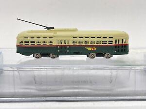 N BACHMANN No.62995 PCC TROLLEY-PTC W/ 8-WHEEL Drive Electric Locomotive