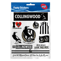Official AFL Collingwood Magpies Footy Stickers Sticker Sheet Pack