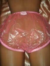 Gummihose Windelhose Gr. L ROSA bauschig Schlüpfer Panty PVC Slip neu    (M18)