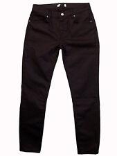 ZARA midrise stretch red/black print coated skinny jeans 28 (10x27) NWOT!