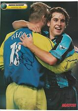 DARREN HUCKERBY/MAGNUS HEDMAN COVENTRY CITY & KEVIN DAVIES ORIG SIGNED PICTURE