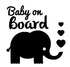 Baby on Board Elephant vinyl car Decal / Sticker