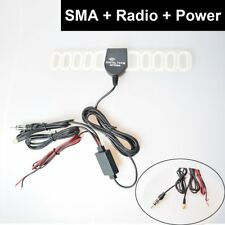Auto Digital TV & FM/AM Antenna Cable Amplifier Booster SMA+ISO Din Radio Port