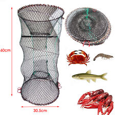 1Pc Large Trap Net Bait Fishing Pot Crab Fish Crayfish Lobster Shrimp Prawn Eel