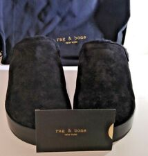 Rag & Bone Eisa Suede Shearling-Lined Clogs, Style W2767F4891, Size10