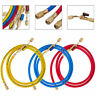 "29983 Manifold Hose Kit 36'' Red Yellow/Blue Compact Ball Valve 1/4"" SAE Solid"