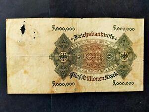 Allemagne billet 5 million mark 1923