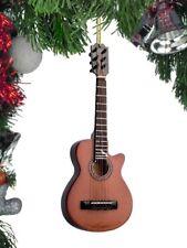 "Miniature 5"" Dark Classic Guitar with cutaway Hanging Tree Ornament OGR12BR"