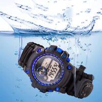 Outdoor Survival Watch Bracelet With Flint Paracord Starter Compass GUS