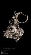 Dogue allemand, porte-clés couvert d'argent, de qualité supérieure Art Dog FR
