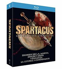SPARTACUS DIE KOMPLETTE SERIE INKL. WAR OF DAMNED BLU-RAY 100% UNCUT VERSION