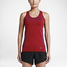 Women's Nike DF Knit Tank Sz M-L Royal Blue/Red/Silver 718567-458 FREE SHIPPING