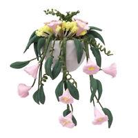 KQ_ 1/12 Miniature Petunia Flower Bonsai Model Doll House Garden Balcony Decor E