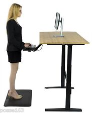 Electric Standing Desk- Height adjustable sit stand office table bamboo (BLACK)
