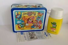 VINTAGE NEW UNUSED MINT 1985 MUPPET BABIES LUNCHBOX W/THERMOS & PAPERWORK.