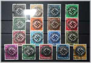 """#14 Germany 3rd Reich RARE Paul von Hindenburg cpl. 512-528 + OP """"Wählt Hitler""""!"""
