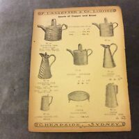Antique Catalogue Page - Hot Water Cans and Serving Trays