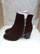 Faith Bella Taupe Brown Faux Suede Ankle Boots Size UK 6/EU 39 - RRP £55