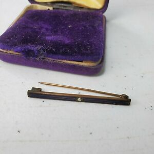 Vintage Mens Tie Bar / Tack from Paul Lackritz Jeweler in Chicago Blue and Pearl