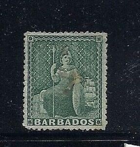 BARBADOS 1873 BRITANNIA SG 58(?) (wmk SMALL STAR) F/VF UNUSED no gum