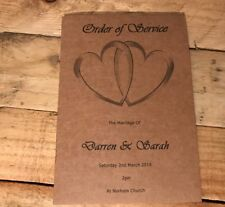 Order of DayButterfly 50 Personalised Wedding Order of Service