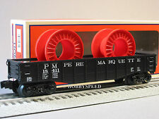 LIONEL PM GONDOLA TWO CABLE WIRE REELS 6-81028 o gauge marquette 6-81661 NEW