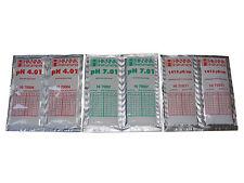 6 x HANNA CALIBRATION SOLUTION SACHETS  2 x 4.01 pH, 2 x 7.01pH, 2 x 1413uS EC.
