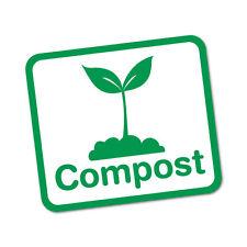 Compost Bin Food Waste Home Sticker Decal Safety Sign Car Vinyl #7025EN