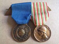 Médaille Al Valore Militare + Commémorative Guerre Italo-Autrichienne 15-18 WW1