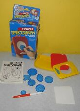 Older 1988 Kenner Travel Spirograph Toy No. 14200 Complete but for Pens
